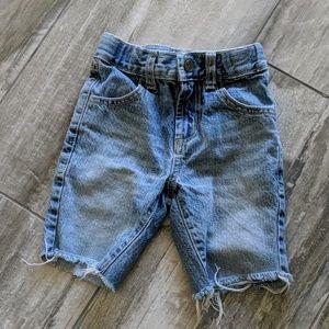 Gymboree Toddler Light Denim Cut-Off Shorts